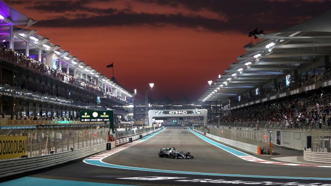 Lewis Hamilton, en el GP de Abu Dhabi.