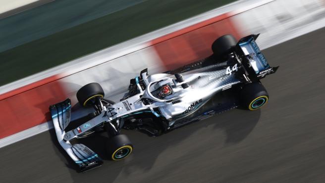Lewis Hamilton, durante el GP de Abu Dhabi de Fórmula 1.