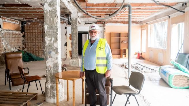 Federico Armenteros, en la futura residencia para mayores LGTBI, situada en Madrid.