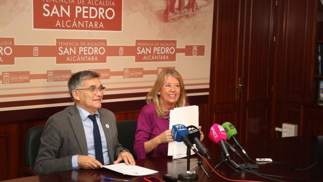 Alcaldesa de Marbella (Málaga), Ángeles Muñoz ,y el teniente alcalde de San Pedro, Javier García