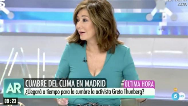 Ana Rosa Quintana comenta la Cumbre del Clima en su programa.