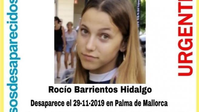 Cartel menor desaparecida en Palma