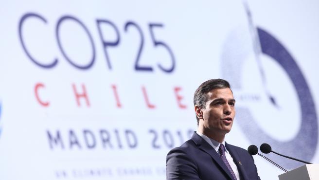 COP25.- Pedro Sánchez asegura que 'ningún muro' puede proteger a 'ningún país po