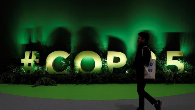 Interior de uno de los pabellones de la cumbre COP25, que arranca en Madrid.