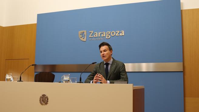 El consejero de Urbanismo y Equipamientos del Ayuntamiento de Zaragoza, Víctor Serrano.