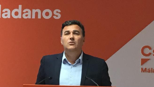El parlamentario y portavoz de Ciudadanos en Málaga, Carlos Hernández White