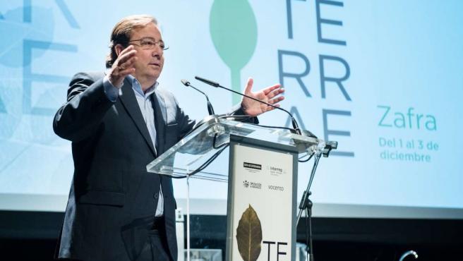 El presidente de la Junta, Guillermo Fernández Vara, en un evento en Zafra