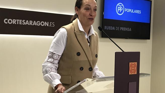 La portavoz de Hacienda del grupo del PP en las Cortes de Aragón, Carmen Susín