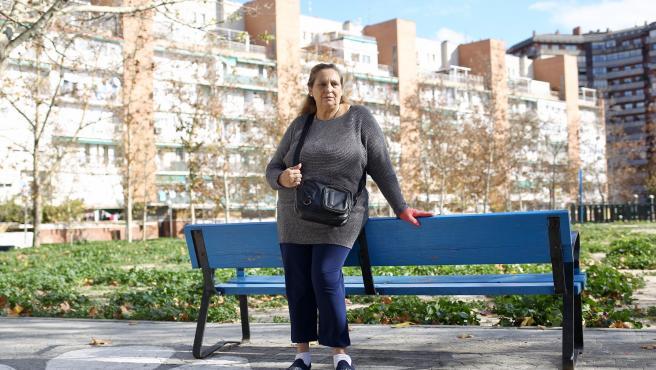 Lourdes, una perceptora de la RMI que ha visto suspendida cautelarmente su subvención.