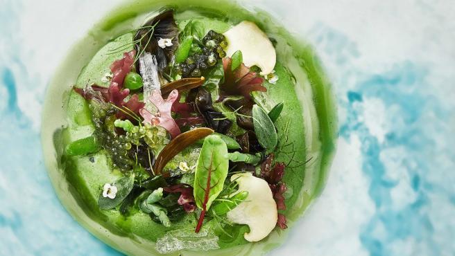 'Mar y montaña vegetal', uno de los platos del menú 'La Tierra se agota'.