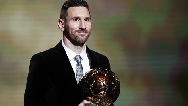 Messi, con su sexto Balón de Oro.