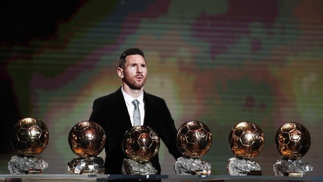 Messi, con los seis Balones de Oro.