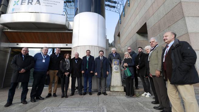 O secretario xeral da Emigración, Antonio Rodríguez Miranda, acompañado dos membros da Comisión Delegada do XI Consello de Comunidades Galegas, visita as novas instalacións da Oficina Integral de Asesoramento e Seguimento ao Retorno.