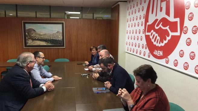 Reunión del grupo municipal del PP en el Ayuntamiento de Jaén con UGT