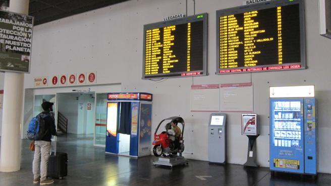 Estación Delicias de Zaragoza, en la zona de autobuses.