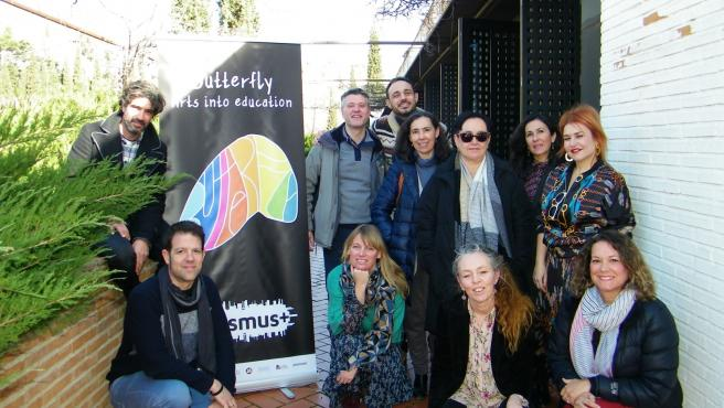 Imagen de los coordinadores de Erasmus+ Butterfly de España
