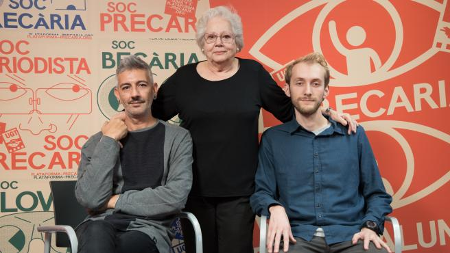 Xavier Reboso, Trinitat Charles y Luka Bader son tres ejemplos de la precariedad en Cataluña.