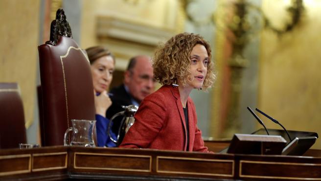 La presidenta del Congreso, Meritxell Batet, durante la sesión constitutiva.
