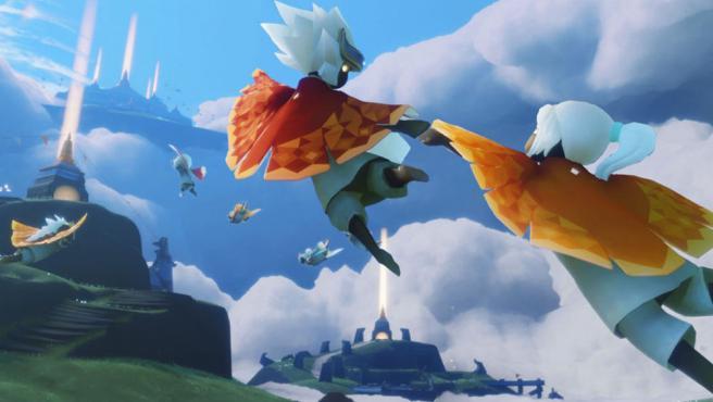 Una imagen del juego para 'Apple Sky: Children of the Light'.