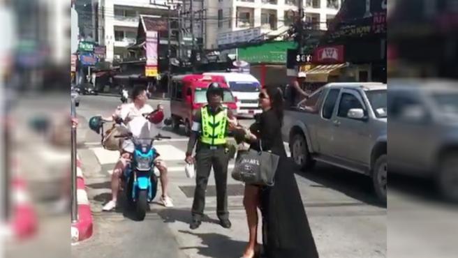 Aída Nízar, en Tailandia, en un vídeo subido a su Instagram.