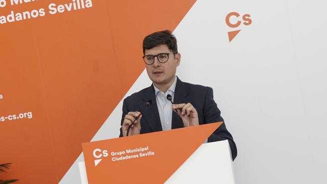 El portavoz de Cs en el Ayuntamiento de Sevilla, Álvaro Pimentel, en una imagen archivo