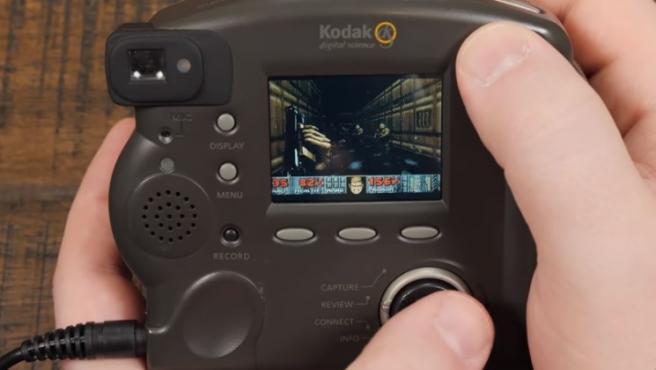 El videojuego 'Doom', en una cámara.