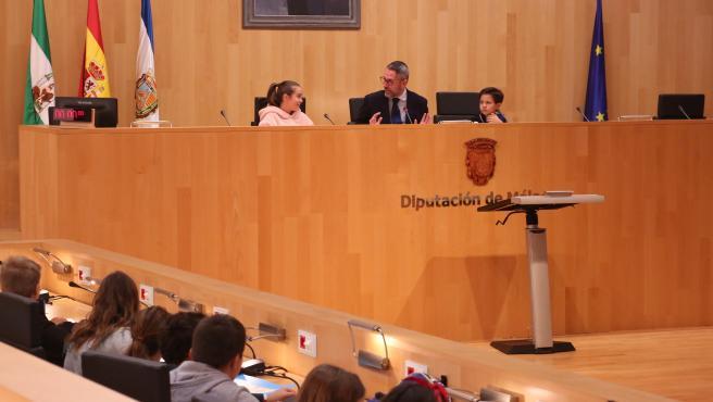 Pleno infantil en la Diputación de Málaga