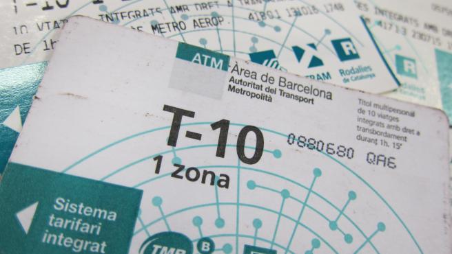 Tarjeta T10 (T-10) del metro de Barcelona