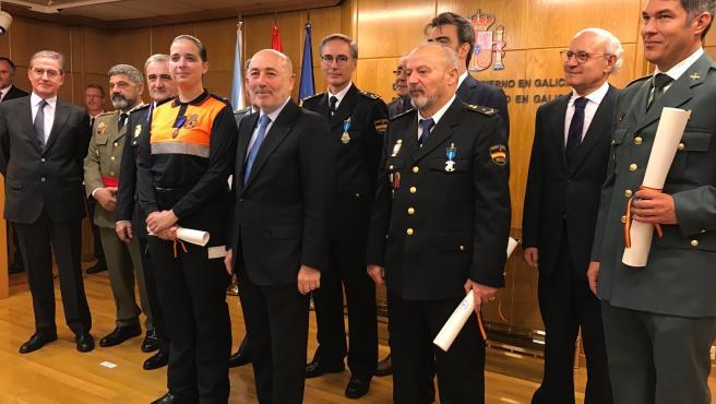 El delegado del Gobierno, Javier Losada, preside el acto conmemorativo del aniversario de la Carta Magna