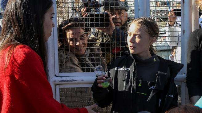 Greta Thunberg en Lisboa.