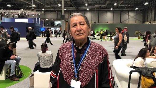 Mario Agreda, representante de los pueblos indígenas ante la ONU, en la COP25
