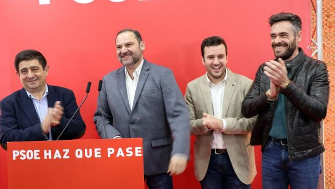 Ábalos en la presentación de la candidatura del PSOE de Bailén a las municipales