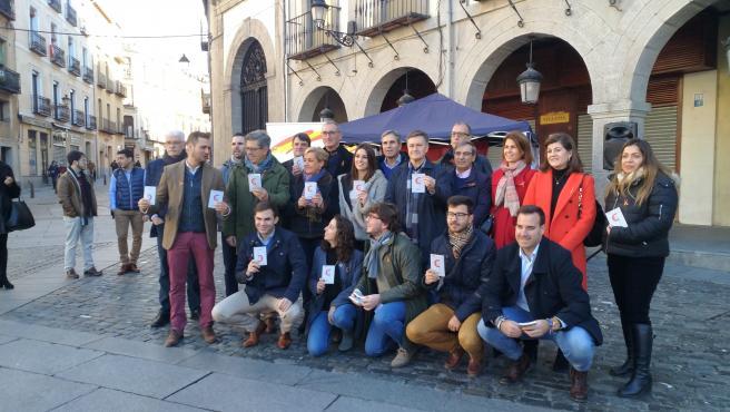Acto de Nuevas Generaciones del PP en Segovia con motivo del Día de la Constitución.