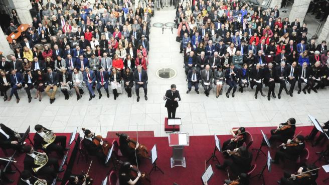 Acto por el Día de la Constitución en el Parlamento de Cantabria