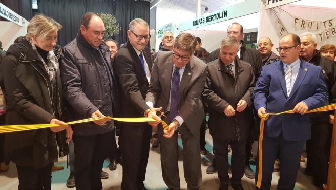 Aliaga inaugura la Feria Mongráfica de la Trufa de Sarrión.
