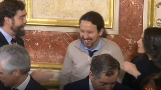 Espinosa de los Monteros, Iglesias y Arrimadas, juntos en el Congreso.