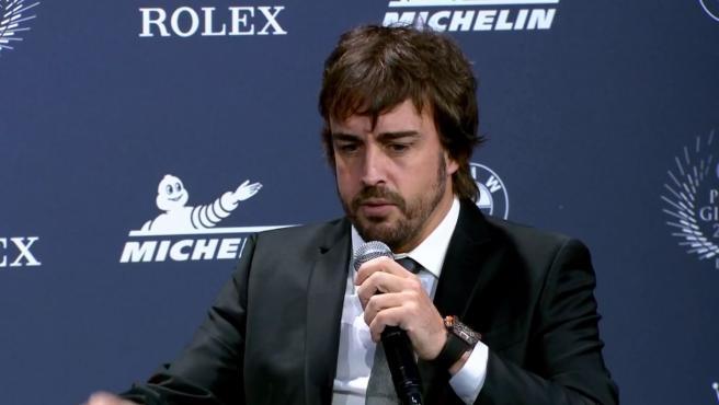 Fernando Alonso, en la gala de la FIA.
