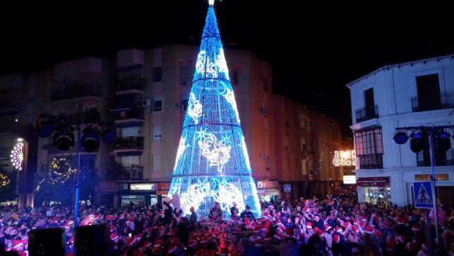 Inauguración del alumbrado de Navidad en Alcalá de Guadaíra