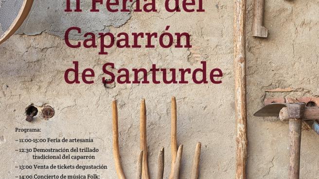 Santurde celebra este sábado su II Feria del Caparrón con trilla tradicional, artesanía y degustación