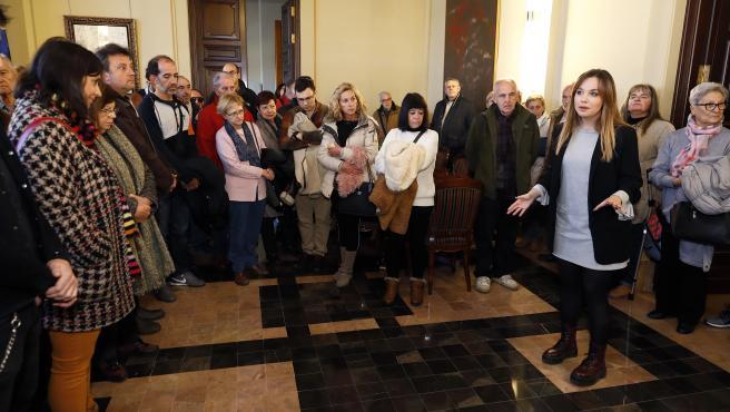 Visita en la jornada de puertas abiertas del Edificio Pignatelli.
