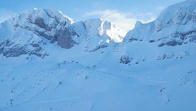 Imagen de la estación de esquí de Candanchú, en Huesca.