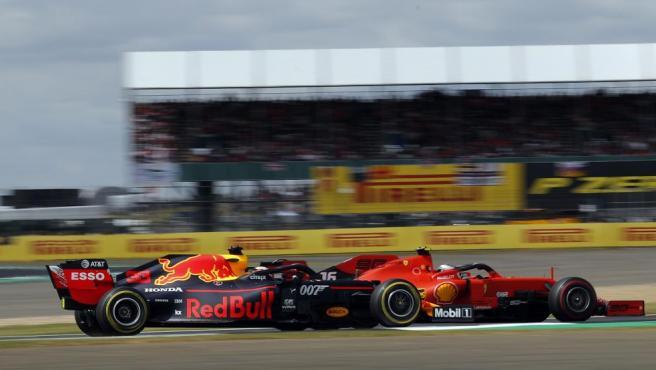 Vertstappen y Leclerc, en el GP de Gran Bretaña