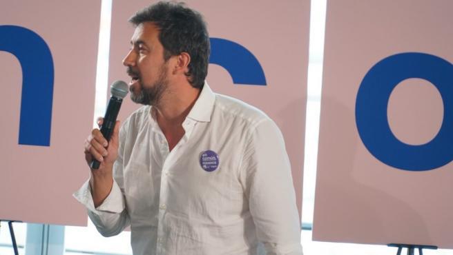 Antón Gómez Reino, candidato de En Común-Unidas Podemos, en el acto celebrado en A Coruña