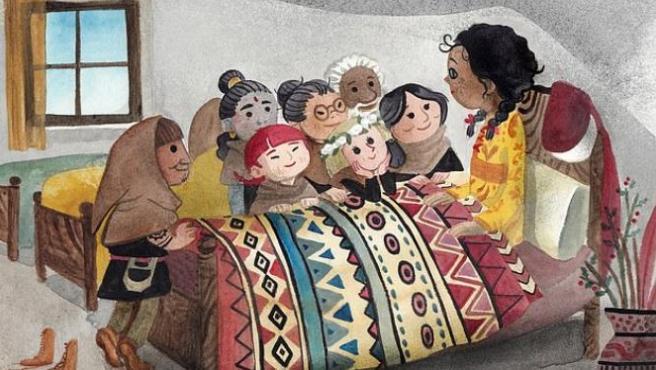 Ilustración de la versión políticamente correcta de 'Blancanieves'.
