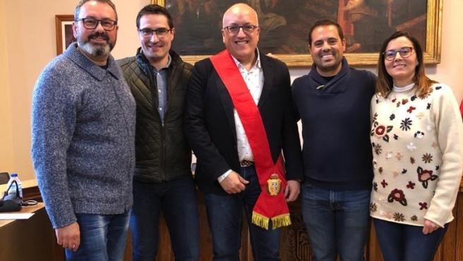 Concejales de Ciudadanos en Caspe.