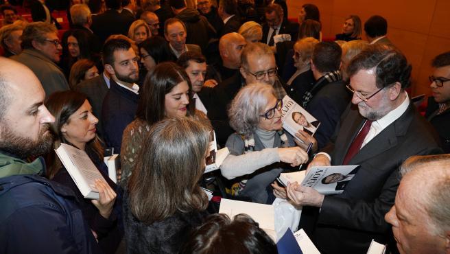 Mariano Rajoy y Nuñez Feijoó en la presentación del libro de Rajoy