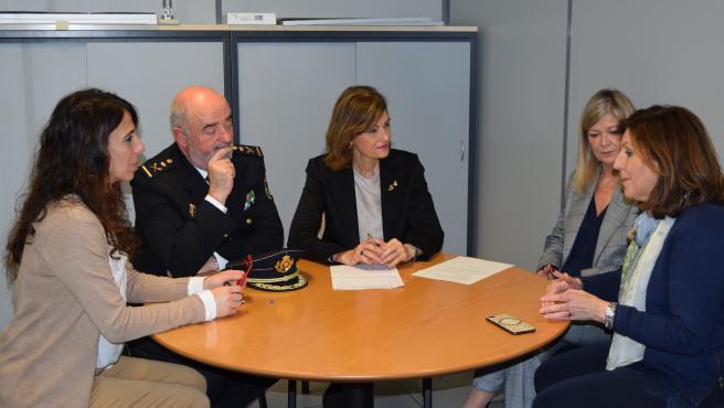Visita de la secretària d'Estat de Seguretat a l'oficina de violència masclista de València