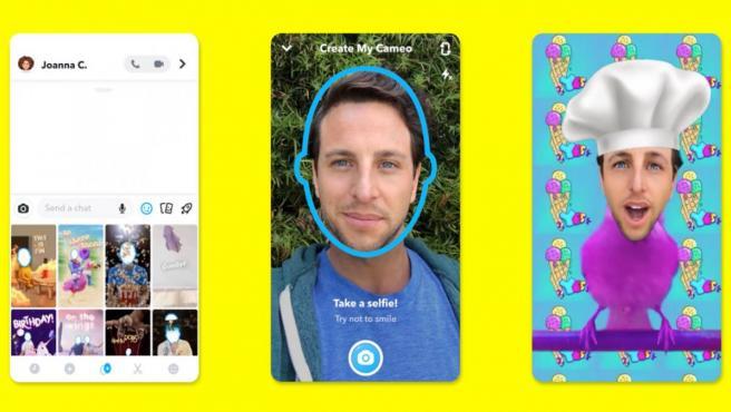Cameos, el nuevo filtro de Snapchat.