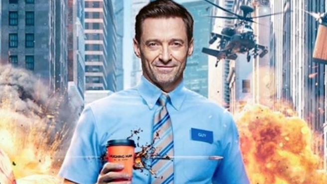 Hugh Jackman le roba el póster de 'Free Guy' a Ryan Reynolds