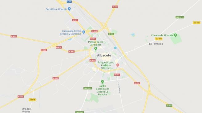 Imagen de Albacete en Google Maps